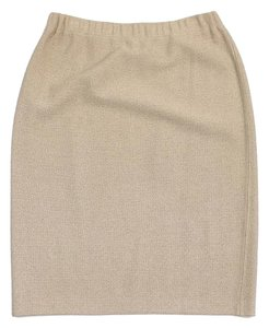 St. John Tan Knit Skirt
