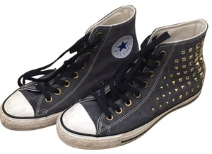Converse Gray/ black laces Athletic