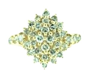 STEAL FOR SO MANY DIAMONDS & GOLD - 14L 3/4 CT diamond cluster ring