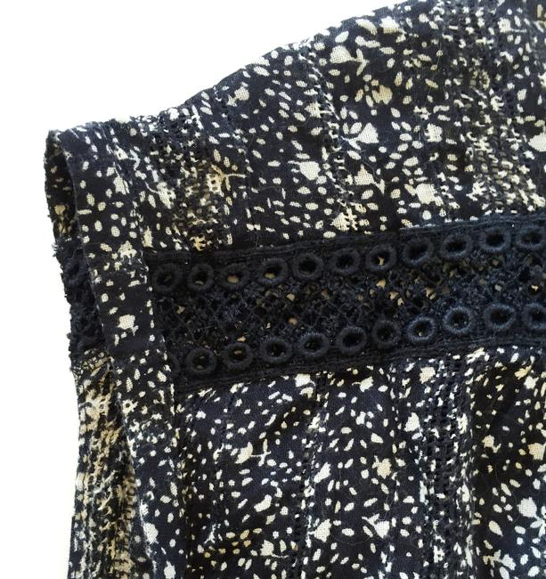 Lucky Brand Sleeveless Pattern Button Down Shirt Black & White Floral Image 4