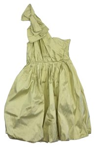 Tracy Reese short dress Chartreuse Raw Silk One on Tradesy