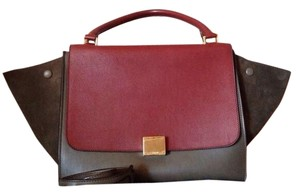 Céline Tote in RED / TAUPE / BROWN