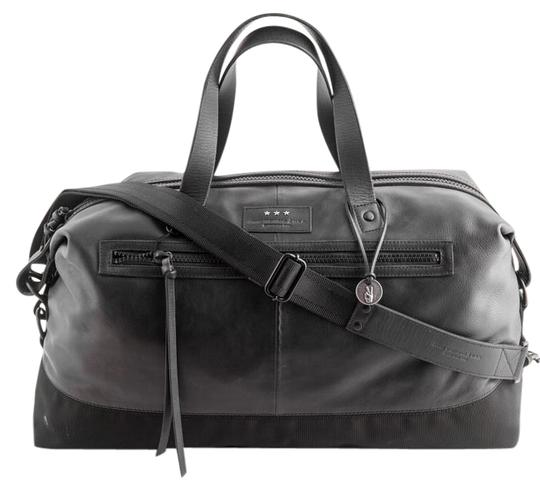 Duffle Detroit Black Smooth Leather