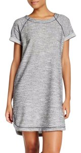 Max Studio short dress Gray Marled Fit Sweatshirt Rolled Cuffed Short Sleeves Above Knee on Tradesy