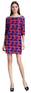 Lilly Pulitzer short dress Pink Cassie Elephant 3/4 Sleeve Above Knee on Tradesy