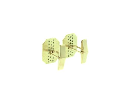 Other FOR DAD - 14 karat yellow gold 1 1/3 carats Cuff Links Image 1