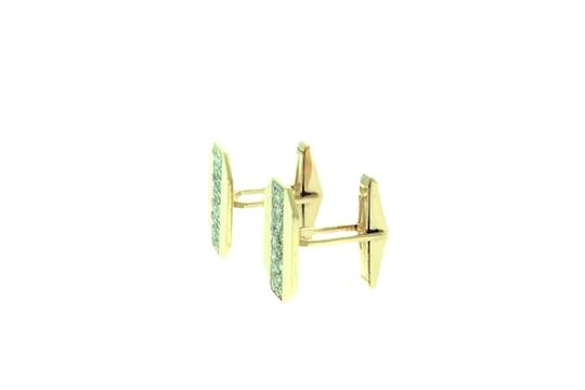 Other FOR DAD - 14 karat yellow gold 1 1/3 carats Cuff Links Image 2