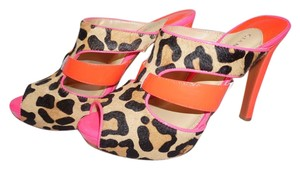 Gianni Bini Pumps Leopard Bright Trendy Calf Hair Multi Sandals