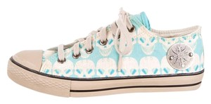 Thomas Wylde Fashion Sneakers Skulls Tan/Turquoise/White Athletic