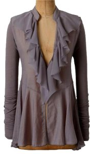 Anthropologie Sheer Chiffon Raw Edges Cardigan