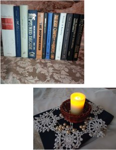12 Hard-cover Books For Centerpieces