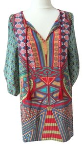 Tolani short dress Red/Green Multi on Tradesy