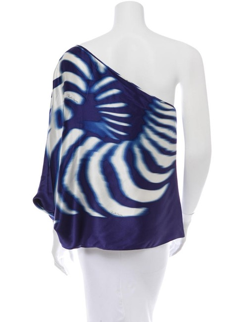 Roberto Cavalli Top blue and white