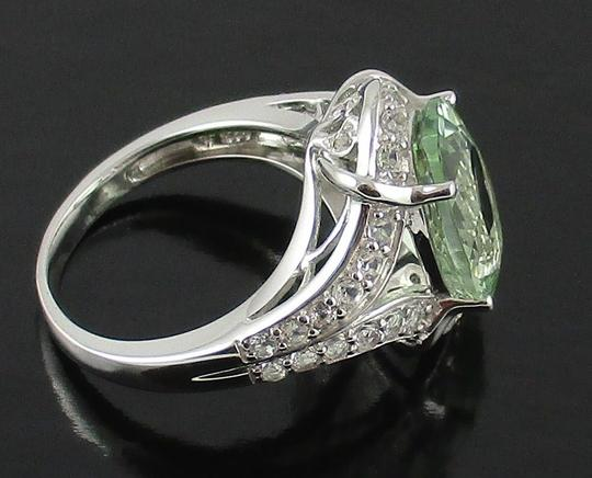 Victoria Wieck Victoria Wieck 4.92ct Prasiolite and White Topaz Sterling Silver Ring - Size 8 Image 1
