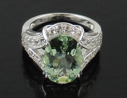 Victoria Wieck Victoria Wieck 4.92ct Prasiolite and White Topaz Sterling Silver Ring - Size 8 Image 2