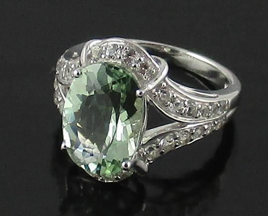 Victoria Wieck Victoria Wieck 4.92ct Prasiolite and White Topaz Sterling Silver Ring - Size 8 Image 3