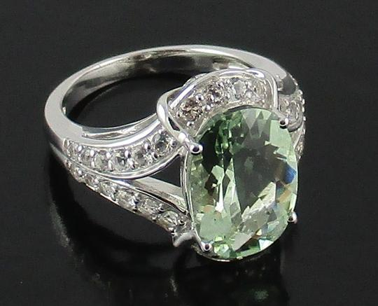 Victoria Wieck Victoria Wieck 4.92ct Prasiolite and White Topaz Sterling Silver Ring - Size 8 Image 4