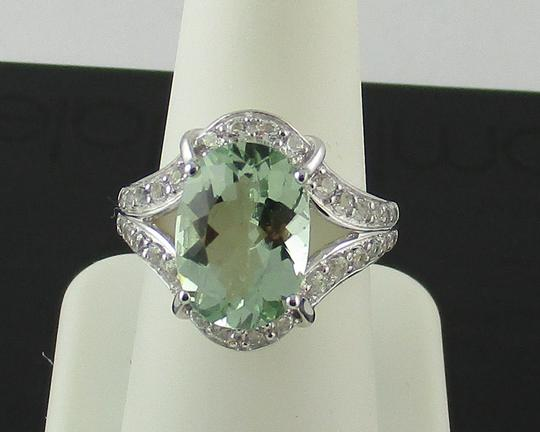 Victoria Wieck Victoria Wieck 4.92ct Prasiolite and White Topaz Sterling Silver Ring - Size 8 Image 5