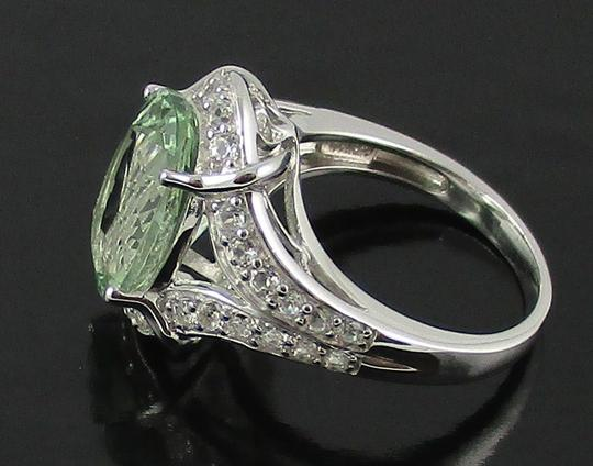 Victoria Wieck Victoria Wieck 4.92ct Prasiolite and White Topaz Sterling Silver Ring - Size 8 Image 7