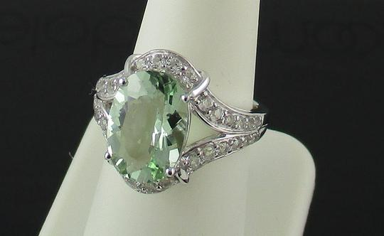Victoria Wieck Victoria Wieck 4.92ct Prasiolite and White Topaz Sterling Silver Ring - Size 8 Image 8
