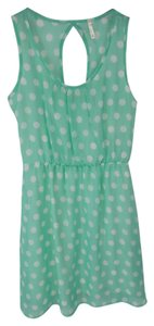 Point short dress Mint Green Polka Dots Short Blouson on Tradesy