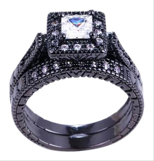 Preload https://img-static.tradesy.com/item/16760944/white-stones-and-black-gold-filled-2pc-vintage-style-sapphire-wedding-set-ring-0-1-540-540.jpg