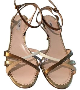 Prada gold & bronze Sandals