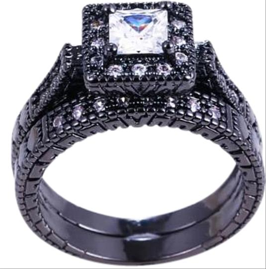 Preload https://img-static.tradesy.com/item/16761016/white-stones-and-black-gold-filled-2pc-vintage-style-sapphire-wedding-set-ring-0-1-540-540.jpg