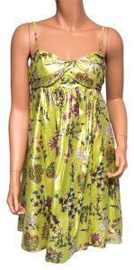 LaROK Floral Silk Strapless Dress