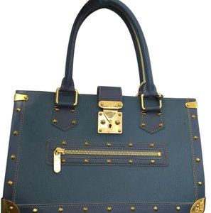 Louis Vuitton Vintage Studded Satchel in Blue