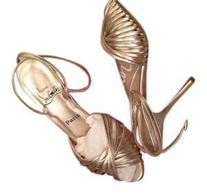 Christian Louboutin Gold Metalic Sandals