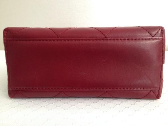 Chanel Satchel in red Maroon Image 3