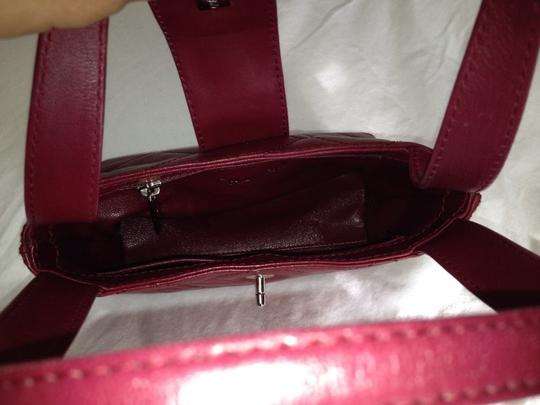 Chanel Satchel in red Maroon Image 7
