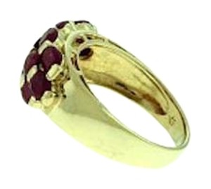 Other STUNNING - 14 karat yellow gold 2 carats total weight oval ruby 3-row band