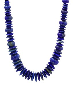 Antique Natural Lapis Necklace - Beaded Necklace -