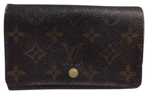 Louis Vuitton Louis Vuitton #7138 Monogram Short Flap Wallet Zip Zippy Pocket Bill Holder Card Case Coin Purse