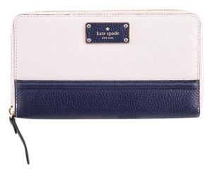 Kate Spade * Kate Spade New York Oliver Street Megan Zip Around Wallet White/Navy