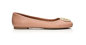 Tory Burch Reva Perforated Beige Flats