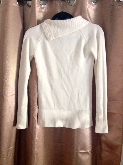 Charlotte Russe Cowl Neck Creme Buttons Cute Trendy Sweater
