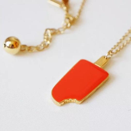 Kate Spade ate Spade Maraschino Red (Orange) Popcicle Necklace
