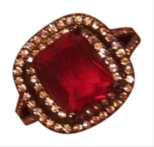 Other Gorgeous Red Sapphire 18k Black Gold Filled Ring Sz 7