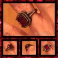 Other Gorgeous Red Sapphire 18k Black Gold Filled Ring Sz 7 Image 2