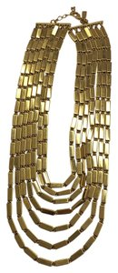 Kate Spade 12k Gold plated Bar Statement Necklace
