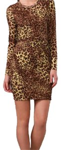 Torn by Ronny Kobo Cheetah Mini Date Dress