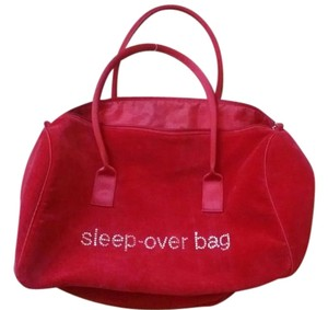 Bath and Body Works Velour Sleep Over Red Travel Bag