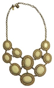 Kate Spade 12k Gold plated ivory stone statement necklace