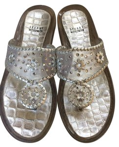 Stuart Weitzman Clear and silver Sandals