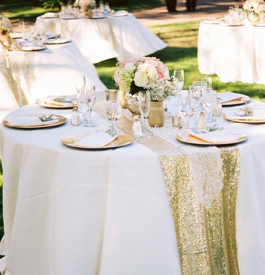 2c30a136af352 Sparkly Light Gold Sequin Table Runners Tablecloth - Tradesy