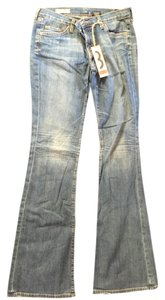Red Engine Boot Cut Jeans-Medium Wash