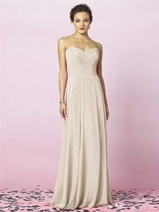 After Six Pink (Cameo) Lux Chiffon 6639 Formal Bridesmaid/Mob Dress Size 8 (M)
